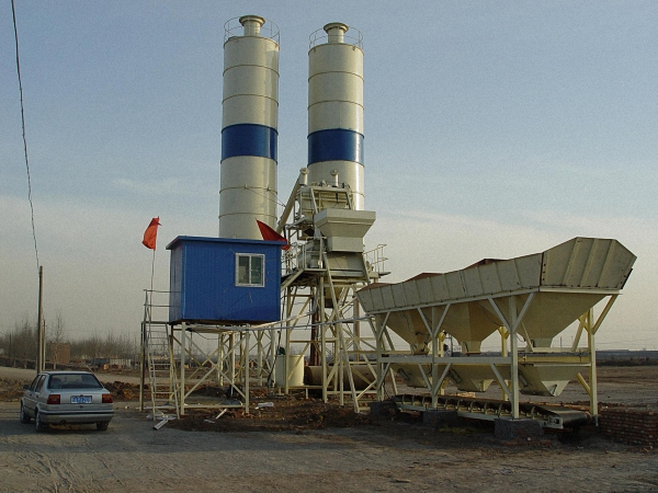 maintenance ready mix concrete plant in run-in period